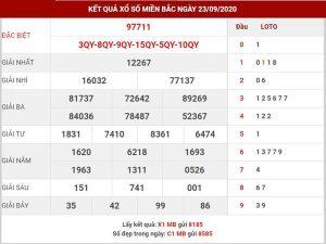 Phân tích kết quả xổ số miền bắc thứ 5 ngày 24-9-2020