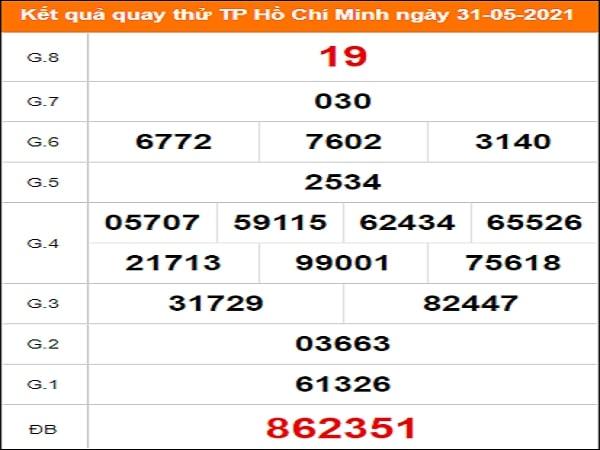 Quay thử xổ số Hồ Chí Minh ngày 31/5/2021
